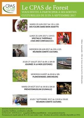 Affiche activités culturelles web