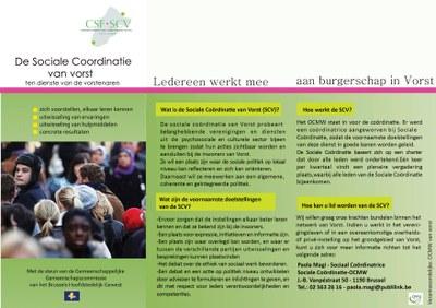 Brochure van de Sociale Coordinatie Van Vorst