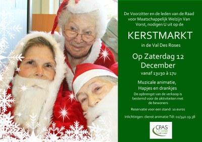 Kerstmarkt in de Verzorgingstehuis Val Des Roses - Zaterdag 12 December